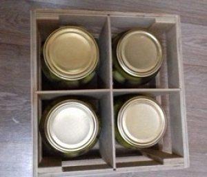 Фанерные ящики для перевозки и хранения баночек с консервацией